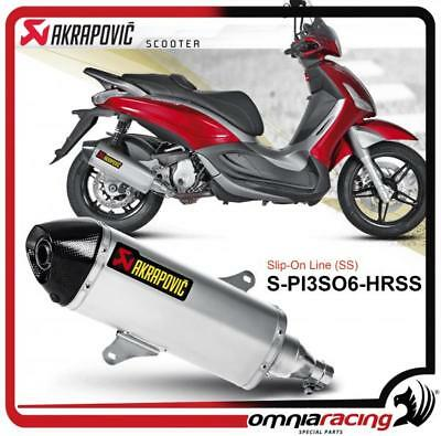 Akrapovic Piaggio Beverly 350 Sport Touring 12> Hoamologated Exhaust System