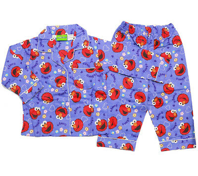 NEW Sz 1-5 KIDS PYJAMAS GIRL ELMO PURPLE WINTER FLANNEL SLEEPWEAR PJS NIGHTIES