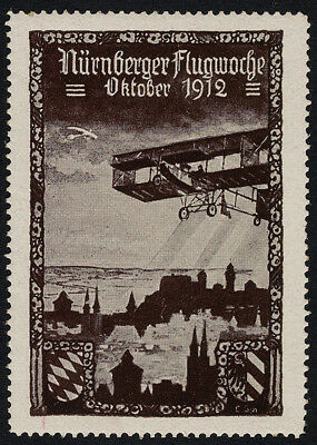 "LUFTFAHRT & ZEPPELIN VIGNETTE: Vignette der ""Nürnberger Flugwoche Oktober  -94"