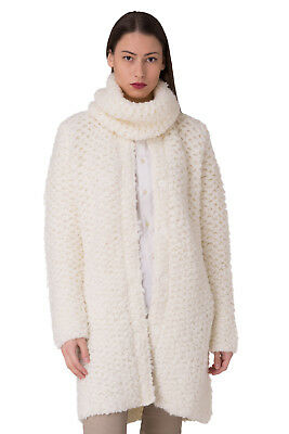 ERMANNO SCERVINO Size 42 / S / M Mohair & Wool Blend Cardigan With Cowl Scarf