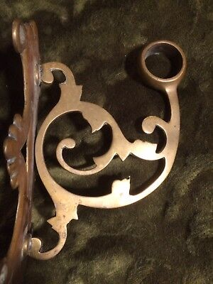 Pair Brass Curtain Pole Holders