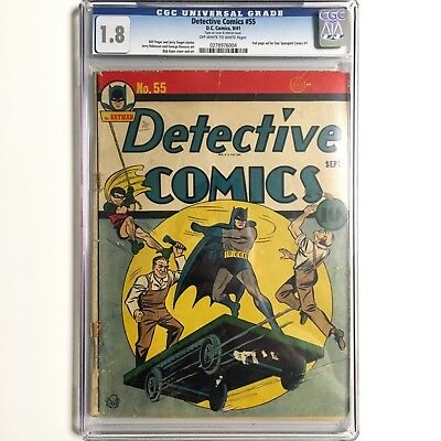 Detective Comics 55 (Sep 1941) CGC 1.8 Unrestored Batman Cover