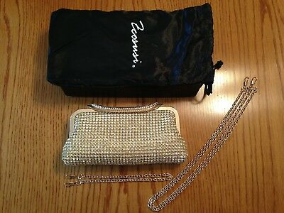 ECOSUSI Gold Ladies Clutches Purses Crystal Rhinestone Party Evening Bags