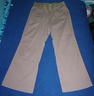 "Gap Maternity Stretch Flare Camel Corduroy Dress Pants Size 8P Petite 27"" Inseam"