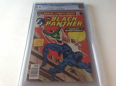 Jungle Action 24 Cgc 9.4 White Pages Black Panther 1St Wind Eagle Marvel Comics