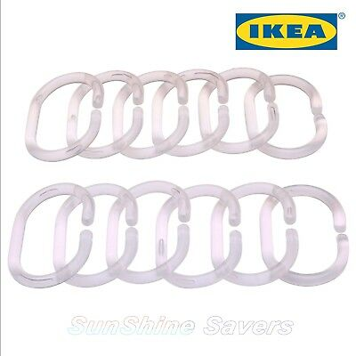 IKEA RINGSJÖN RINGSJON transparent Shower curtain ring SILICON RUBBER
