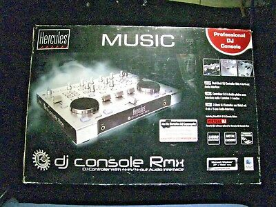 Hercules DJ Console Rmx (DJ Controller - 4-in/4-out Audio Interface) NEW + MORE