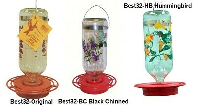 Best 32 Hummingbird Feeder 32 oz Glass Bottle (3 Styles Available)