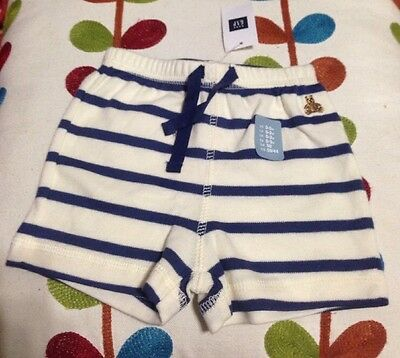 Baby Gap Baby Boy 0 To 3 Months Comfortable Striped Shorts New With Tags