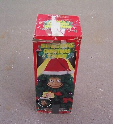 Telco Mr. Everett Green Singing Mouth Moves Battery Operated Christmas Tree
