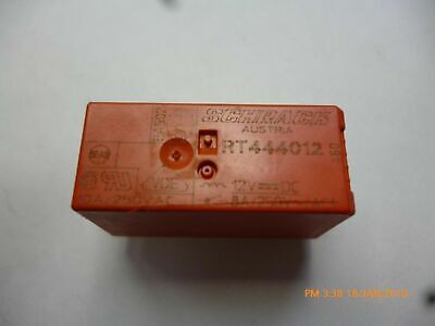 Relay Schrack 12 volt coil 8A 250V Contacts RT444012 DPST NO