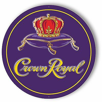 CROWN ROYAL Printed Aluminum Sign - 24 inch Diameter