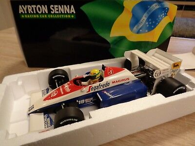 1:18 Mnichamps Ayrton Senna Collection 1984 Toleman Hart TG 184 #19 OVP selten!