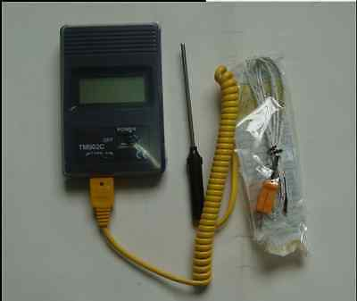 Digital thermometer lab high temp probe -50 to 750°C(20cm probe),  New