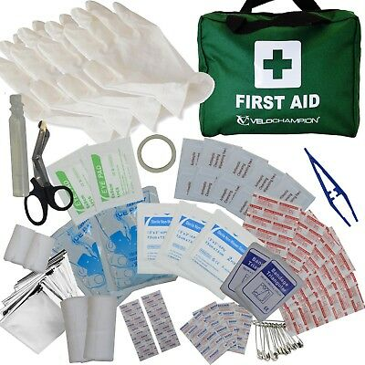 110 Piece First Aid Kit Bag Medical Emergency Kit Travel Home Car Taxi Workplace