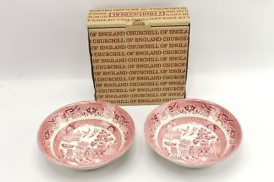 Classic Pink Willow Soup Bowl Set Churchill of England