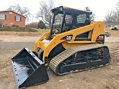 Caterpillar 277B Track Skid Steer Multi Terrain Loader Bob Cat Snow Plow Pilot