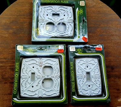 3pcs - Vtg Franklin Brass Eldorado Switchplate/Outlet Covers New Old Stock USA
