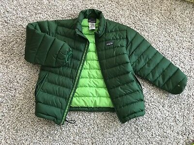 Patagonia Boys Down  Sweater Jacket Green Size S (8)
