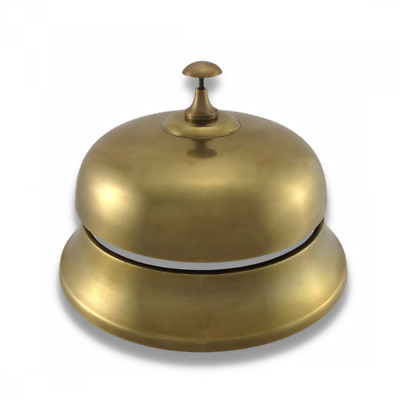 Oversized Brass Finish Aluminum Desk Bell