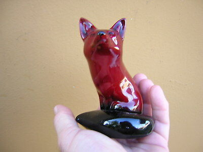 Vintage ROYAL DOULTON Flambe Red Seated Fox