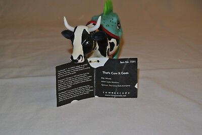 "Cow Parade ""That's Cow It Goes"" #7291, w/tag and orig. box"