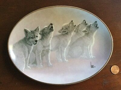 """Bradford Exchange Limited Edition Plate-Wolves-""""Soul Music""""-Wild Bunch-SH FREE"""