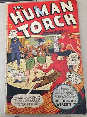 The Human Torch Vo.1 #28 1947 Cornell Pub.Namora Appearance GD/VG