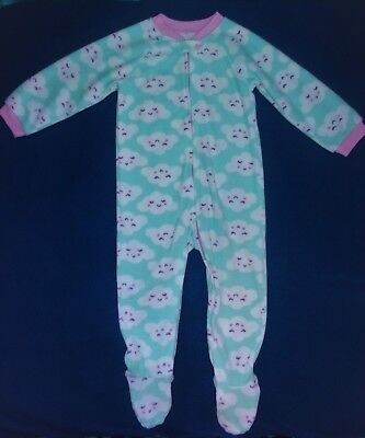 New without Tags The Children's Place Girl's Fleece Pajamas Size 3T One-Piece