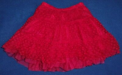Old Navy Girl's Size 5T Red Heart Lace Tiered Tutu Style Skirt Valentine's Day