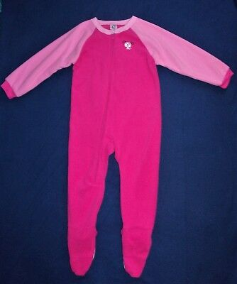 New without Tags Gerber Girls Micro Fleece Pink Monkey Pajamas Size 4T One-Piece