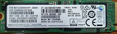 Samsung PM961 NVMe 256GB M.2 PCI Express X4 SSD MZVLW256HEHP Pulled from new HP