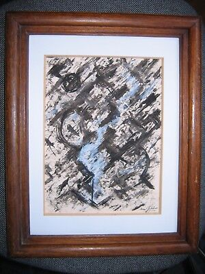 "Beau dessin  ""Abstraction "" signé jean CHEVALIER"