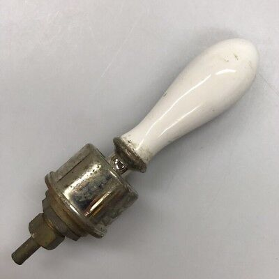 Antique Vintage Bathroom Bathtub Shower Handle White Porcelain 6""