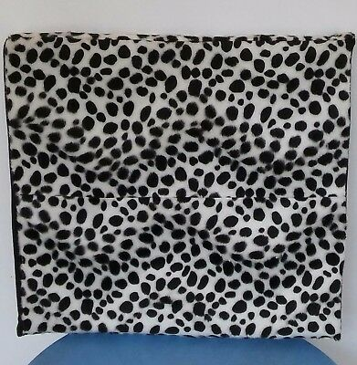 Dalmatian faux fur Cushion & Cover for Wheelchair  (MOBILITY STYLE AND FASHION)