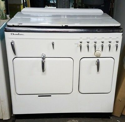 Vintage 1940's Chambers Model 15 Bz 4 Gas Stove