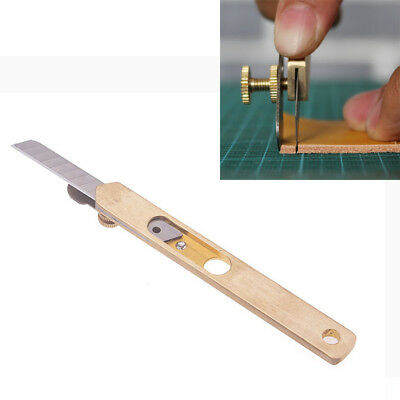 Sell Copper DIY Incision Cutter Leather Cut Tool Trimming Knife With Blade