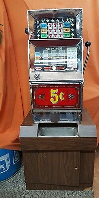 Bally 831 - 1 to 3 Player 5 Cent Slot Machine  Late 70's  FOR PICK UP ONLY