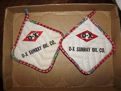 D-X Sunray oil co advertising hot pads--gas and oil advertising