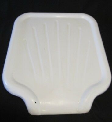 Vintage White Porcelain Enamel on Steel Sink Drain Board Drainboard