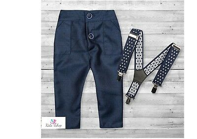 Baby Boy  Pageboy Trousers Little Gentleman with  Braces 0-18M