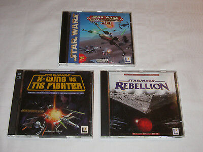 Star Wars PC-Computerspiele Rogue Squadron 3D, X-Wing vs. Tie Fighter, Rebellion