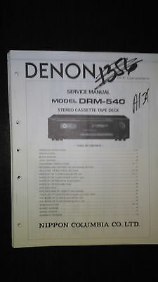 Denon drm-540 service manual original repair book stereo tape deck player