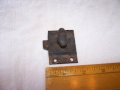 Vintage Cast Iron Spring Loaded LATCH PART - Cabinet / Door