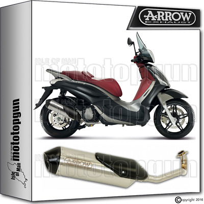 Arrow Full System Reflex-2 Chrom Hom Piaggio Beverly 350 2012 12 2013 13 2014 14