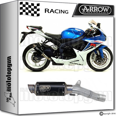 Arrow Kit Muffler Gp-2 Stainless Steel Dark Race Suzuki Gsxr 600 2015 15 2016 16
