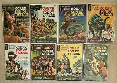 KORAK SON OF TARZAN  LOT (8) Issues #14-21  Gold Key Comics 1964 NICE!!