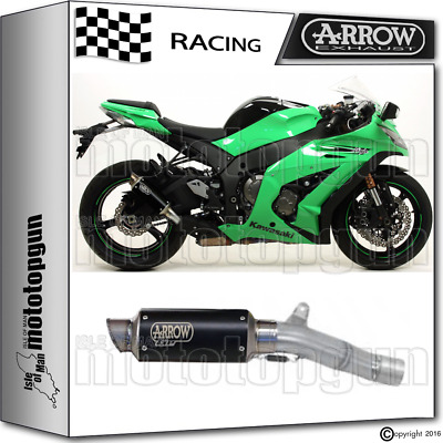 Arrow Kit Muffler Gp2 Stainless Steel Dark Race Kawasaki Zx-10R 2013 13 2014 14