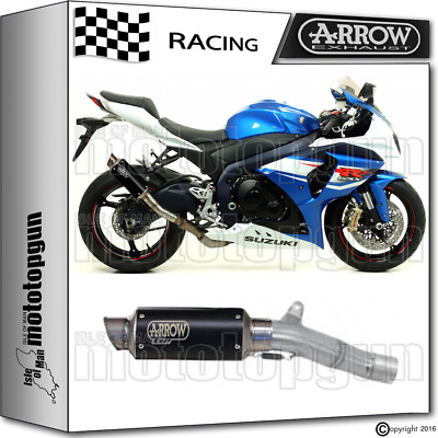 Arrow Kit Muffler Gp-2 Stainless Steel Dark Race Suzuki Gsxr 1000 2012 12