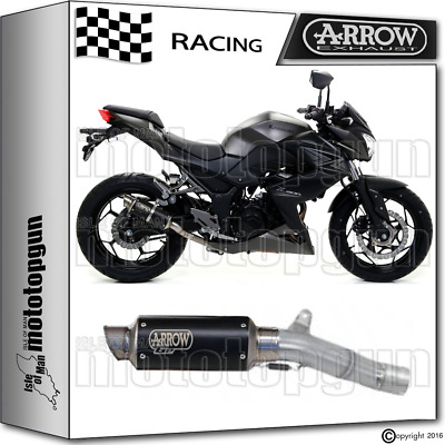 Arrow Kit Muffler Gp2 Stainless Steel Dark Race Kawasaki Z300 2015 15 2016 16